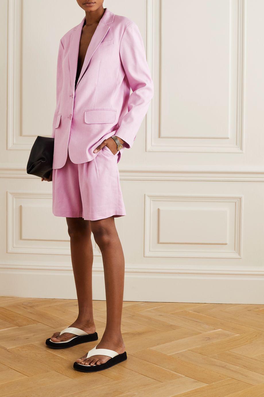 Tibi Linen-blend cargo shorts