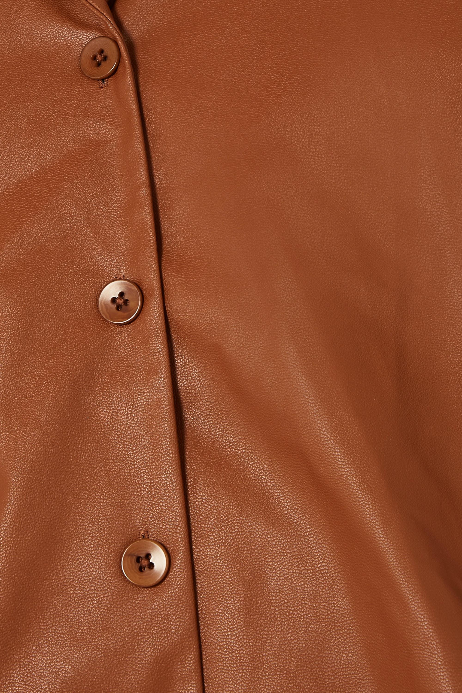 Tibi Faux leather shirt