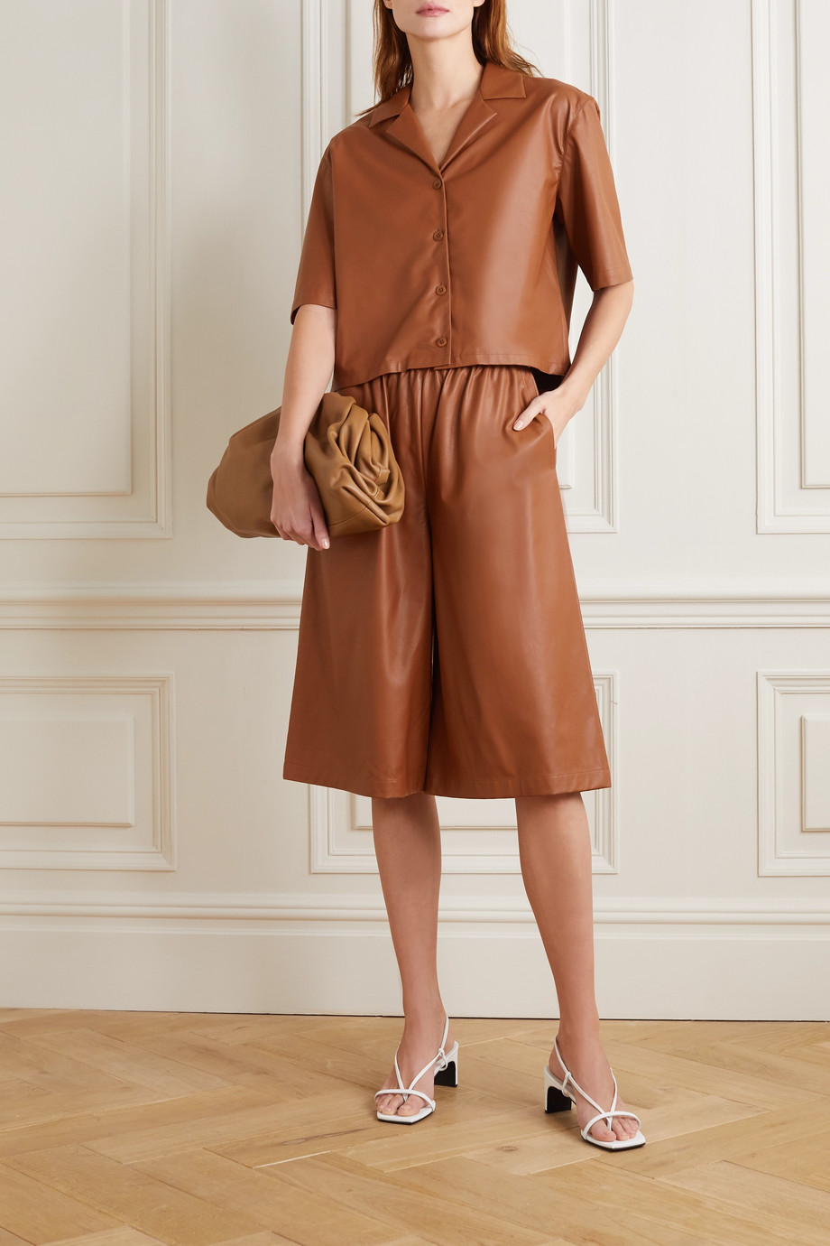 Tibi Faux leather shorts