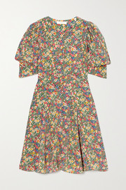 DÔEN Ceres floral-print silk crepe de chine mini dress