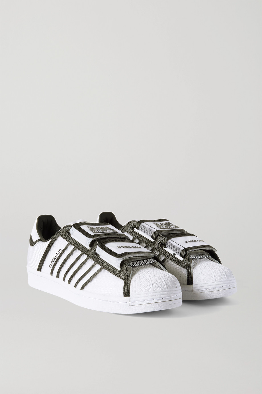 adidas Originals + Ji Won Choi + Olivia Oblanc Superstar faux leather and mesh sneakers