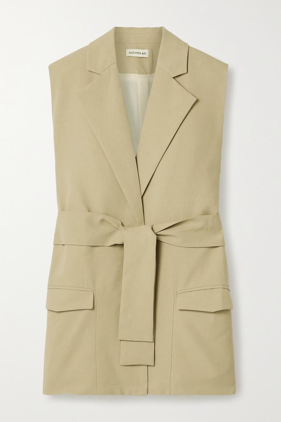 NICHOLAS Jennifer belted twill vest