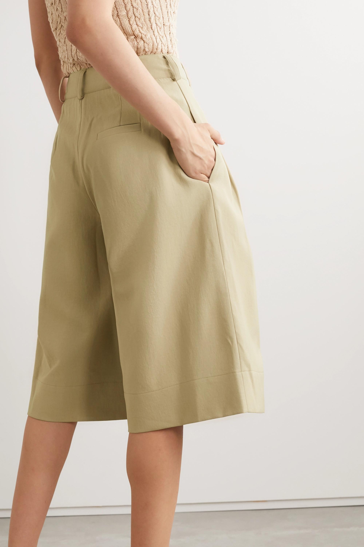NICHOLAS Amy pleated twill shorts