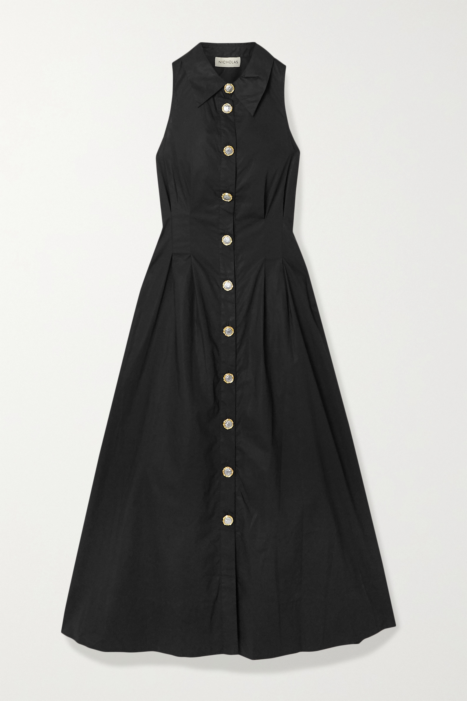 NICHOLAS Melanie cutout cotton-poplin shirt dress