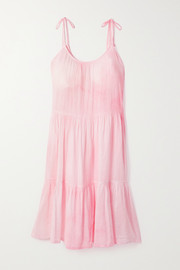 Honorine Daisy tie-dyed crinkled cotton-gauze dress