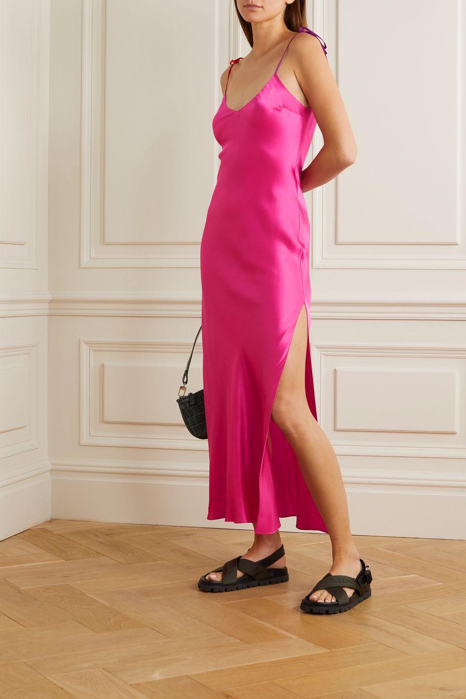 DANNIJO Silk-satin midi dress
