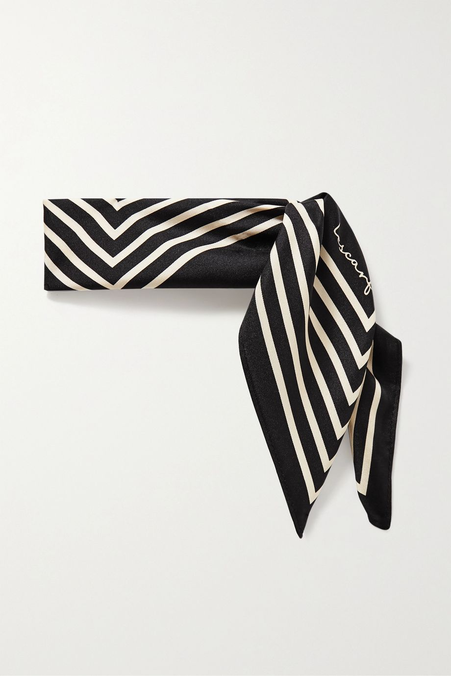 lescarf No. 16 striped silk-twill scarf