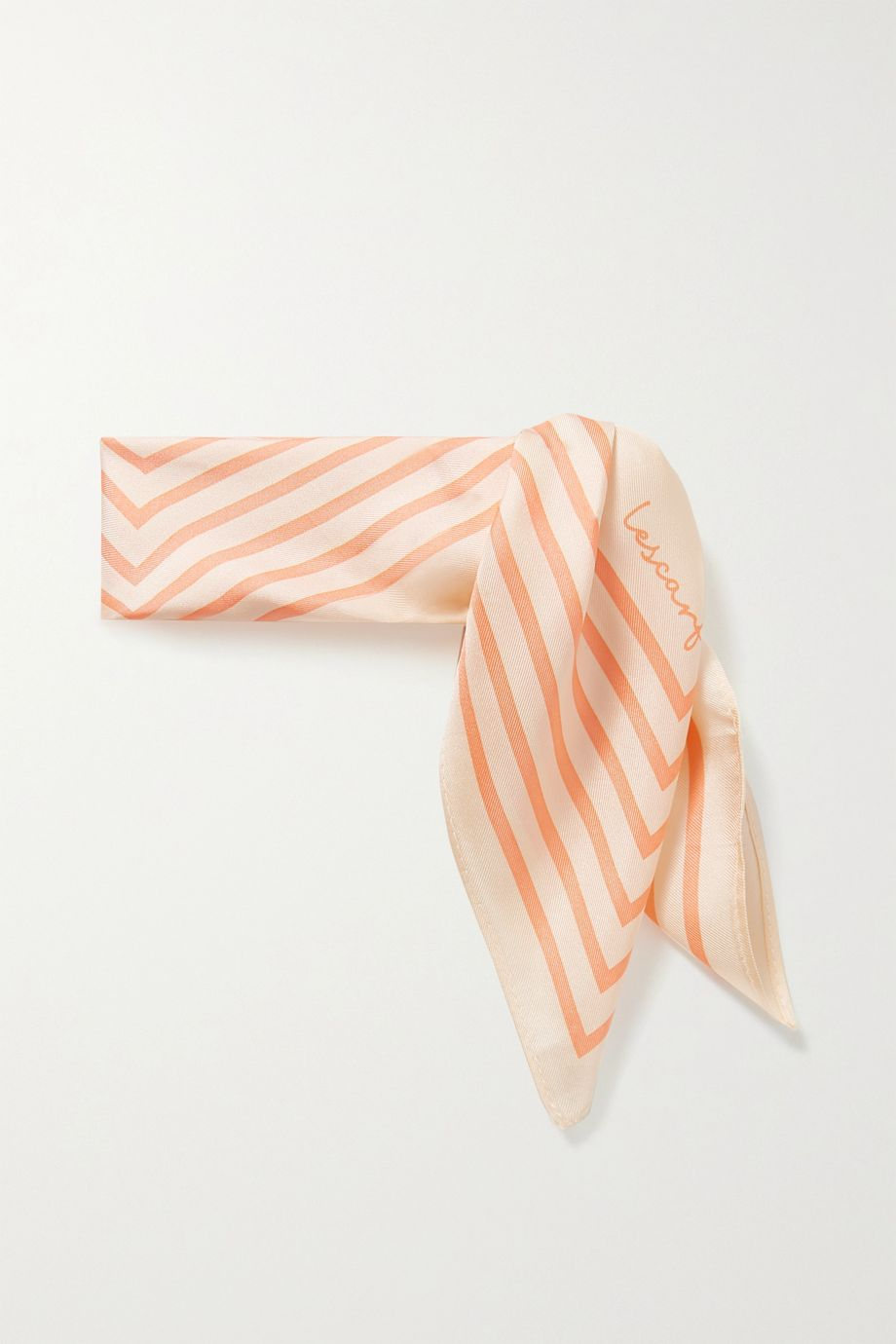 lescarf No. 19 striped silk-twill scarf
