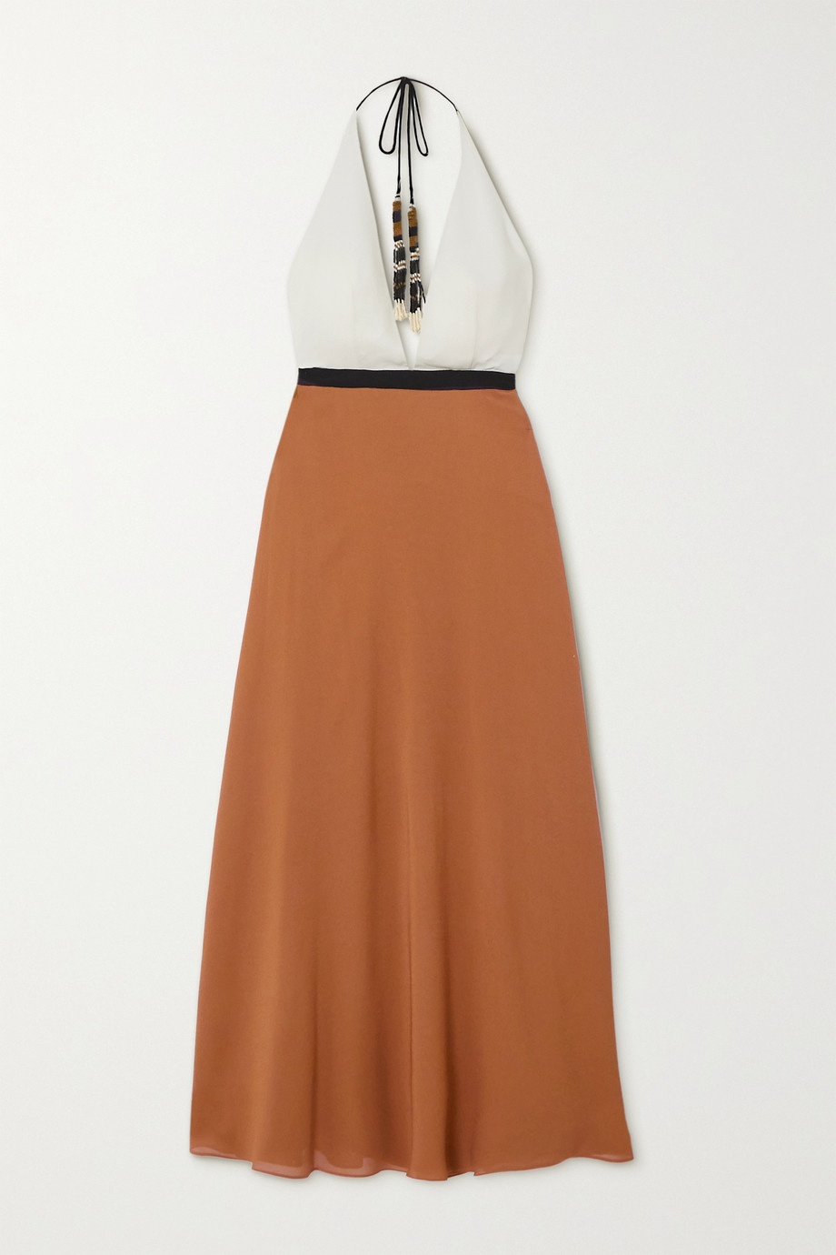 Eres Palma color-block silk-crepe halterneck maxi dress