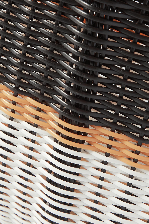Eres + Palorosa small striped woven tote