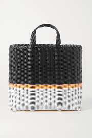 Eres + Palorosa small striped woven tote