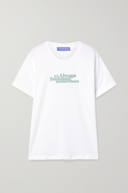 Paradised 印花纯棉平纹布 T 恤