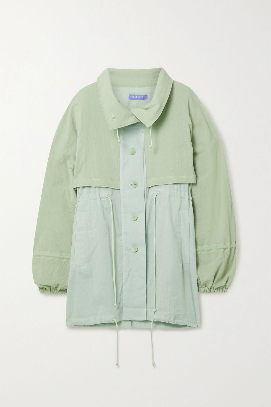 Paradised Crinkled cotton-gauze jacket