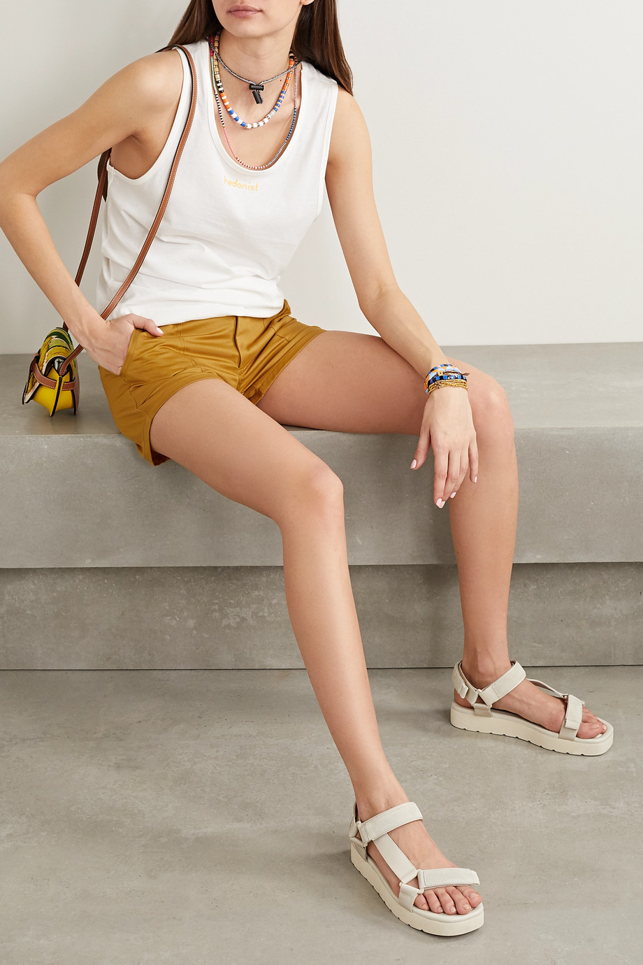 Paradised Kelly cotton-twill shorts