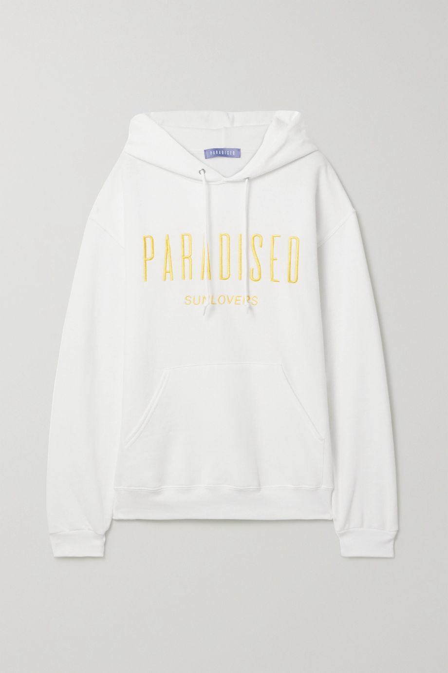 Paradised Sunlovers embroidered cotton-blend jersey hoodie