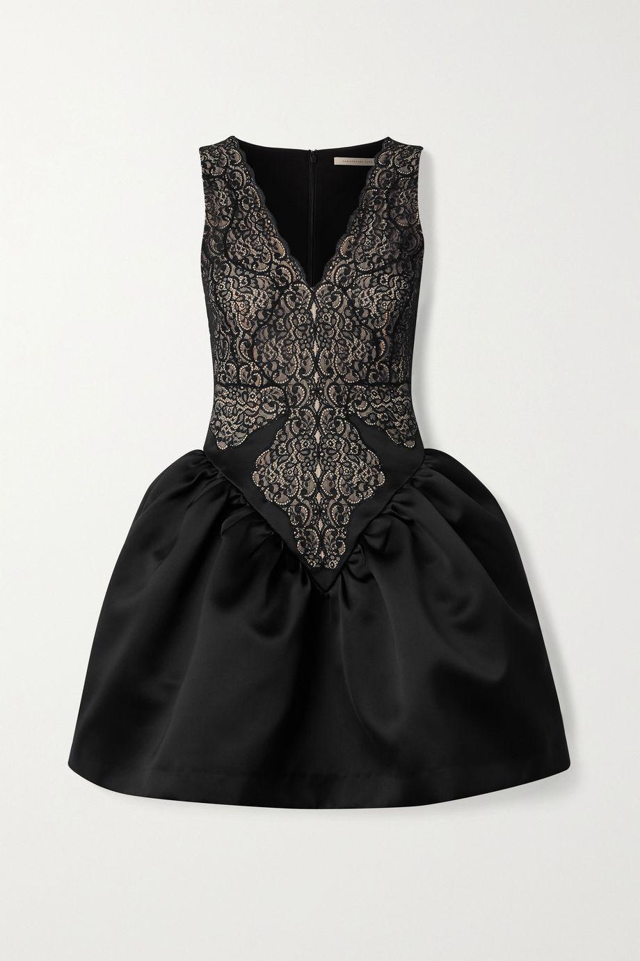 Christopher Kane Lace and duchesse-satin mini dress