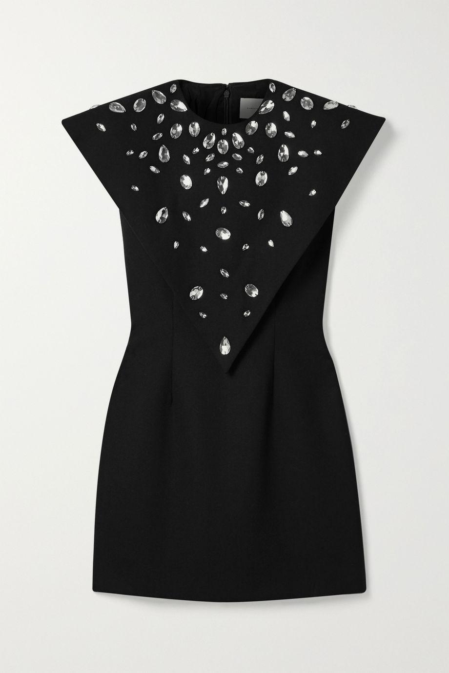 Christopher Kane Crystal-embellished crepe mini dress