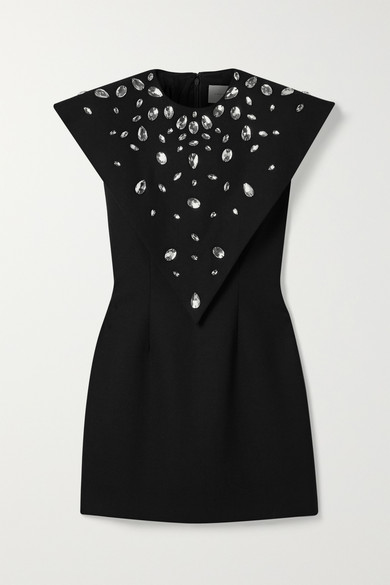 Christopher Kane Dresses Crystal-embellished crepe mini dress