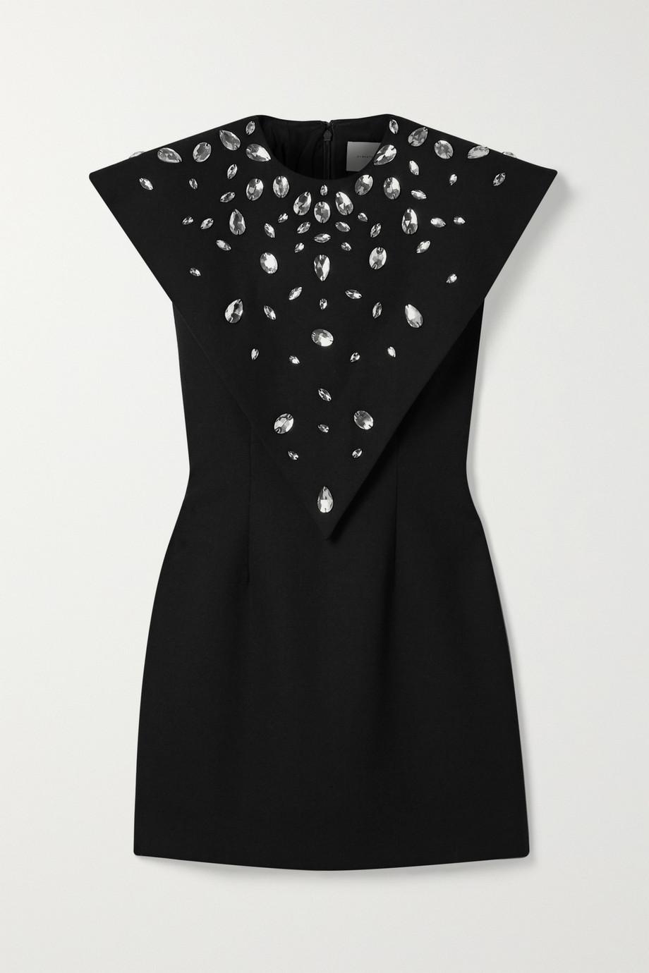 Christopher Kane | Crystal-embellished crepe mini dress | NET-A-PORTER.COM