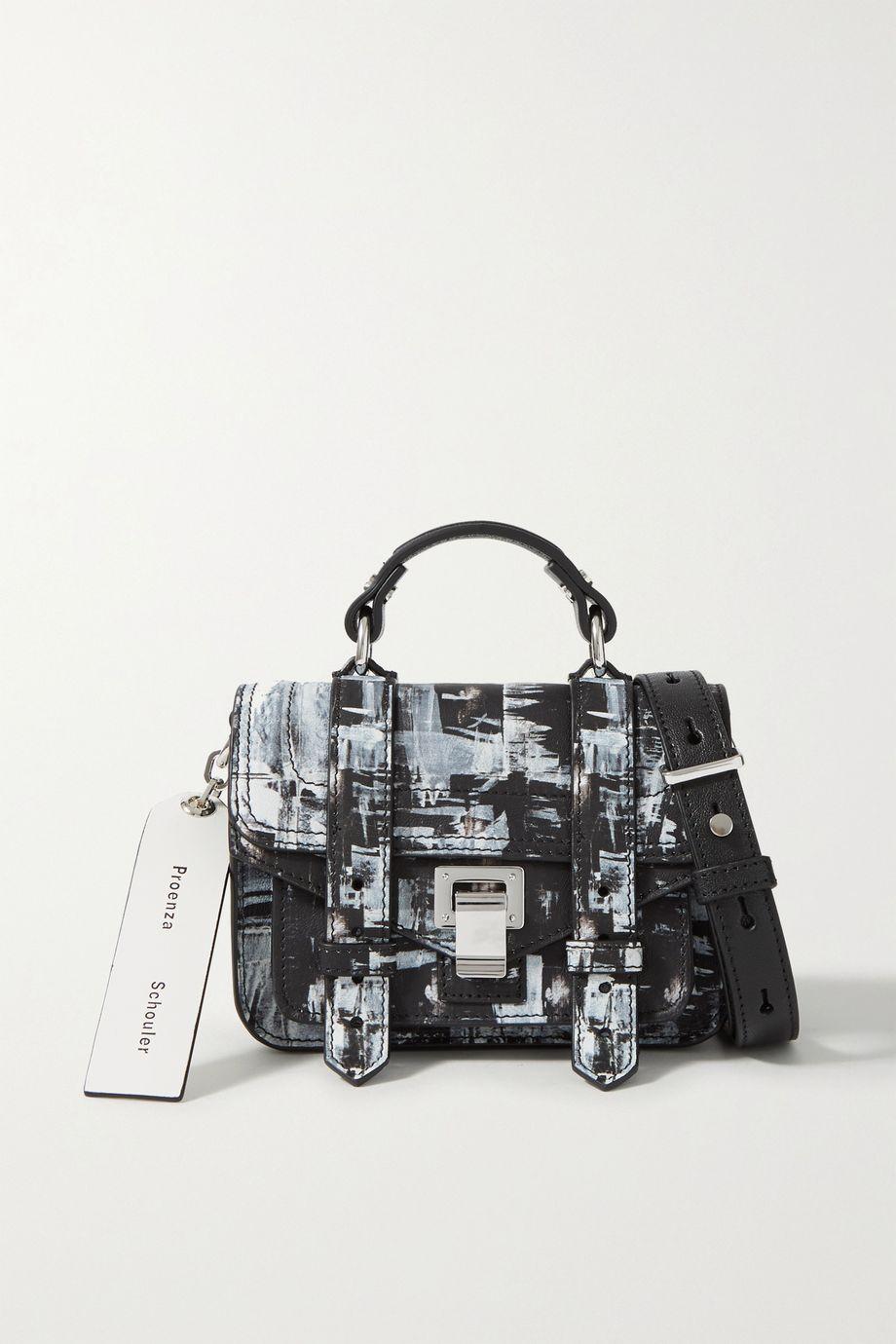 Proenza Schouler + Harmony Korine PS1 micro printed leather shoulder bag