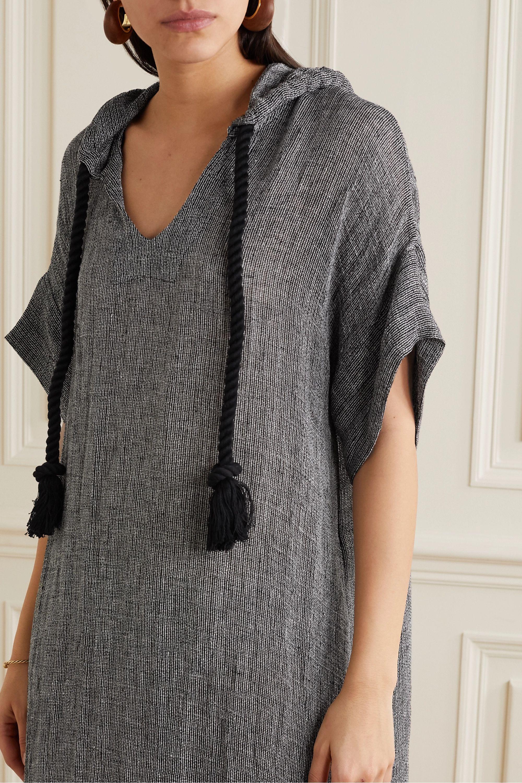 Lisa Marie Fernandez Hooded linen-blend gauze kaftan