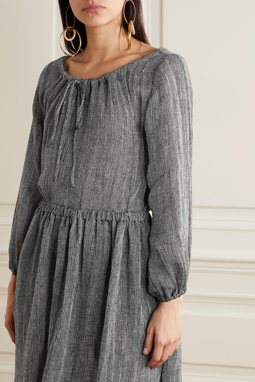 Lisa Marie Fernandez Linen-blend gauze top