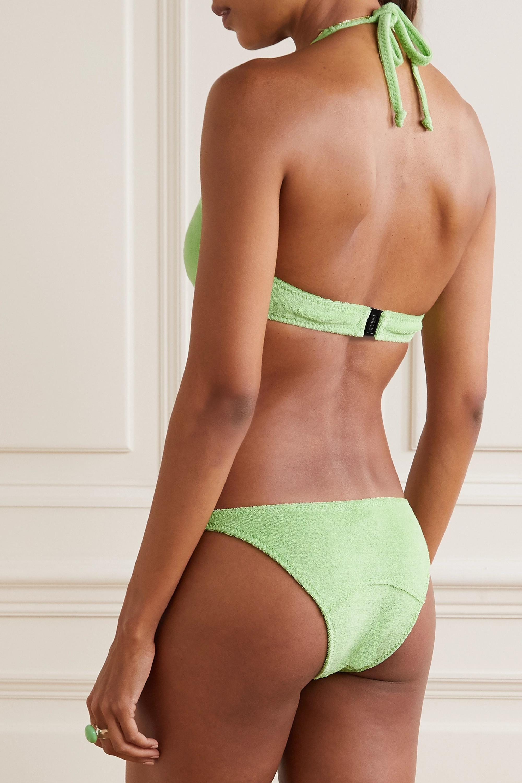 Lisa Marie Fernandez Bikini dos nu en molleton de coton stretch Amber
