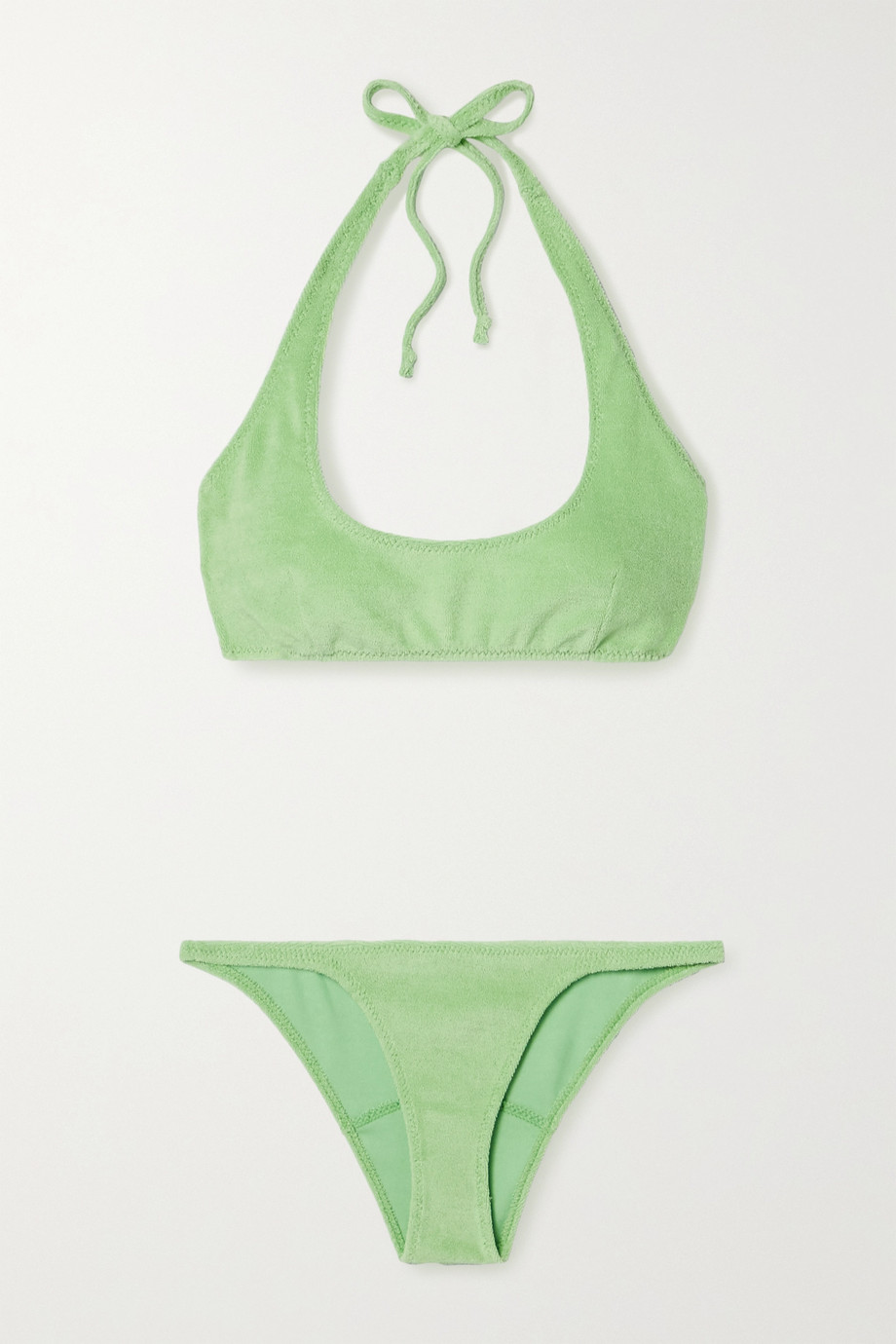 Lisa Marie Fernandez Amber stretch-cotton terry halterneck bikini