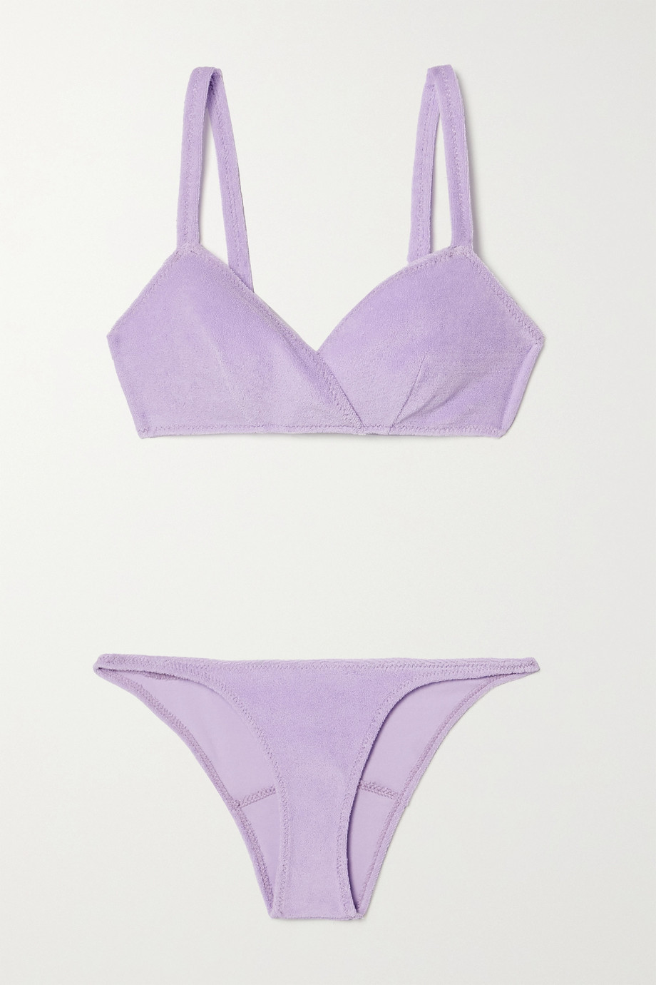 Lisa Marie Fernandez Yasmin cotton-blend terry bikini