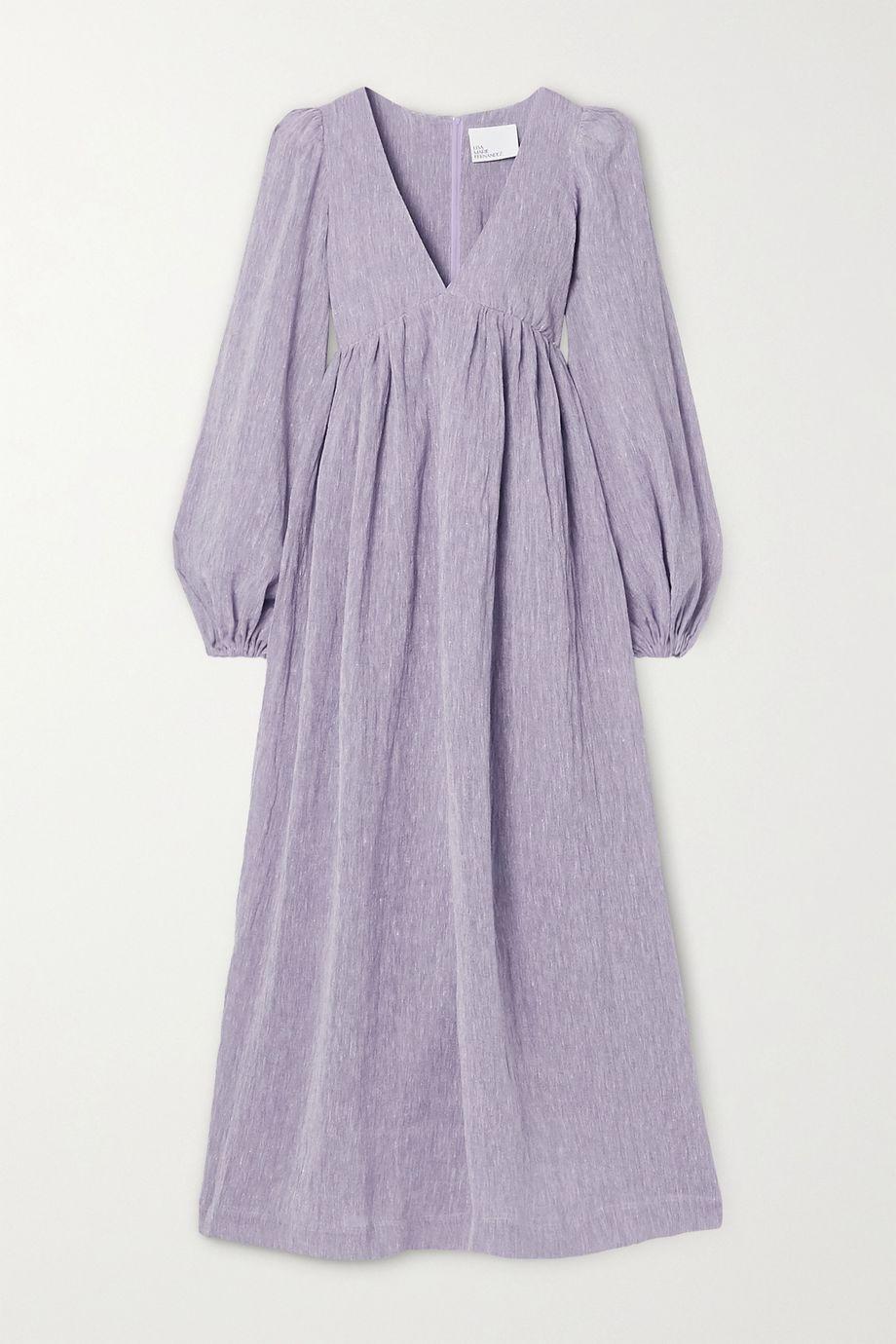 Lisa Marie Fernandez Carolyn organic linen-blend gauze maxi dress