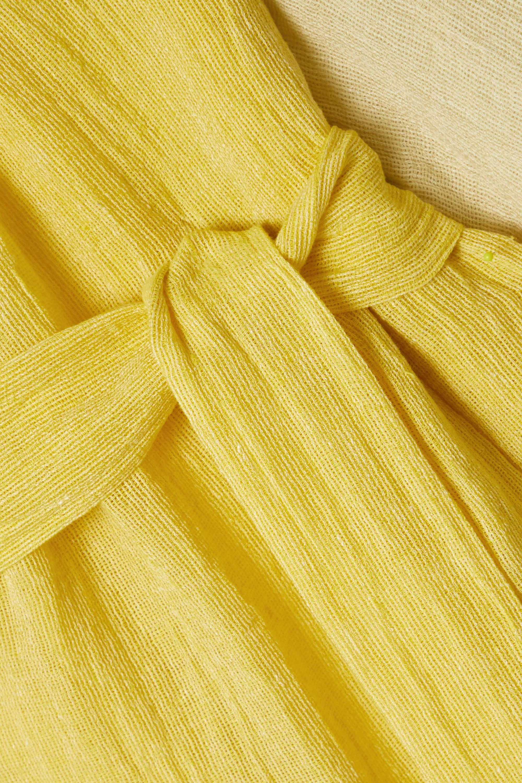 Lisa Marie Fernandez Laure belted linen-blend gauze midi dress