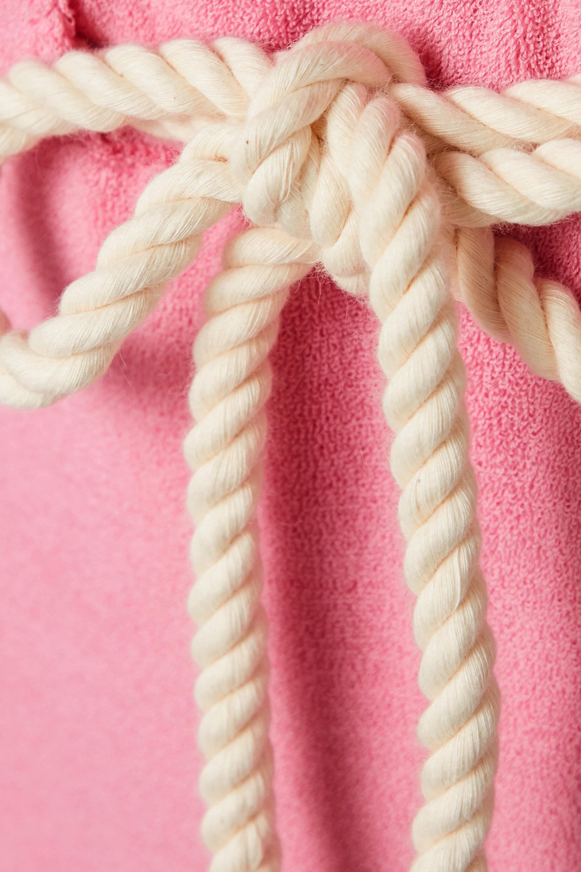 Lisa Marie Fernandez Yasmin belted wrap-effect cotton-blend terry swimsuit