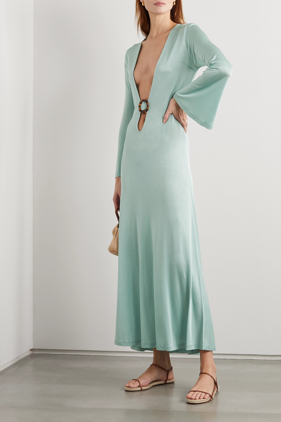 Dodo Bar Or Lin embellished cutout stretch-jersey maxi dress