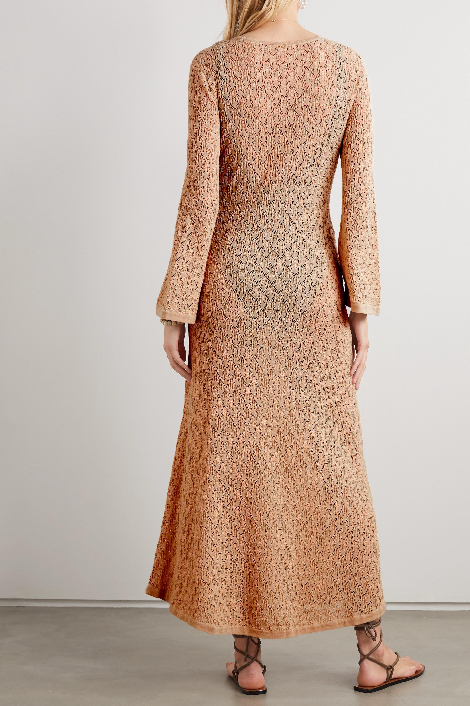Dodo Bar Or Gigi embellished cutout crocheted cotton maxi dress