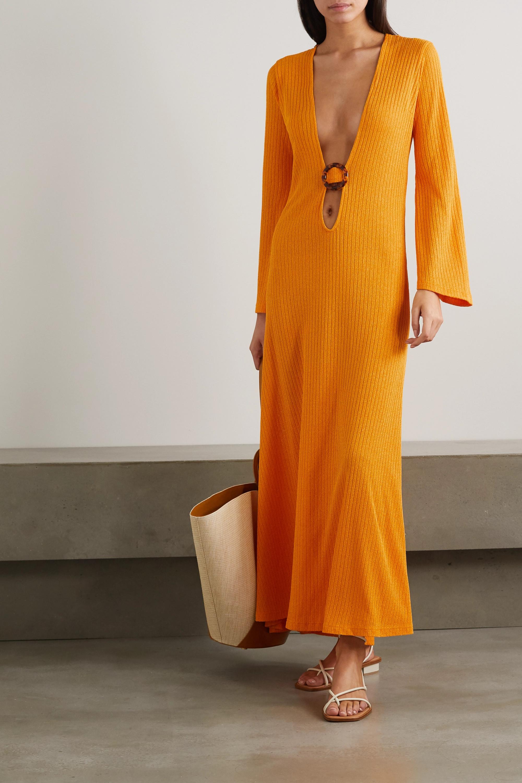 Dodo Bar Or Junna embellished cutout ribbed-knit maxi dress