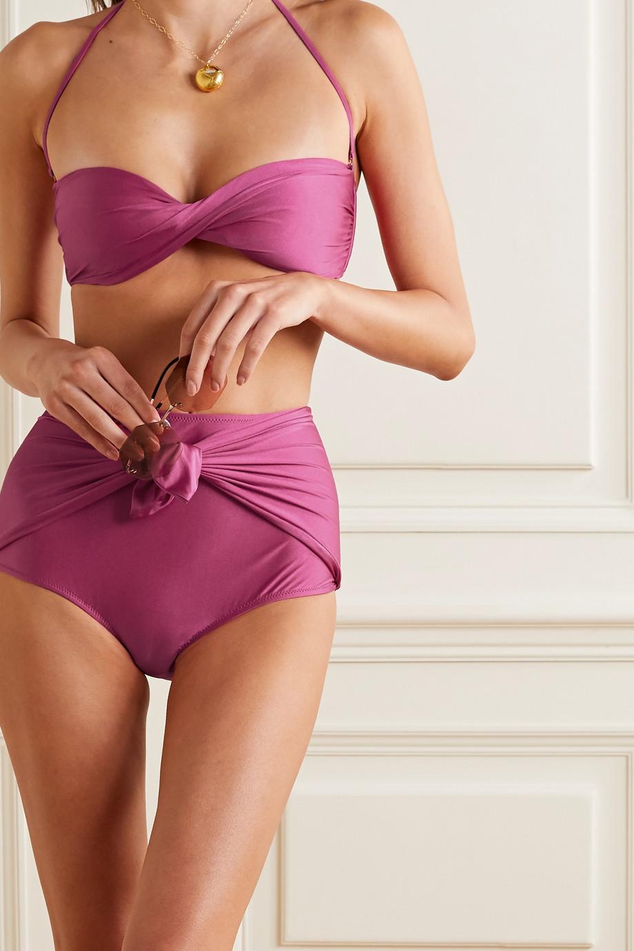 Dodo Bar Or Ritta twist-front bikini top