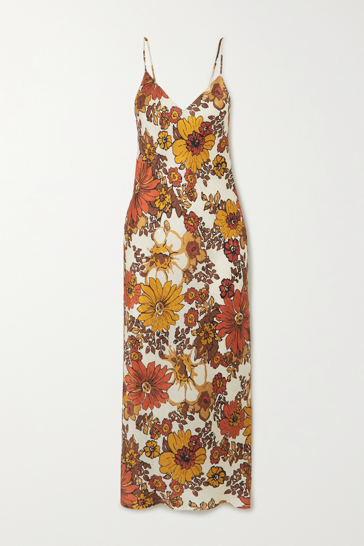 Dodo Bar Or Robe midi en jacquard de soie à imprimé fleuri Corinna