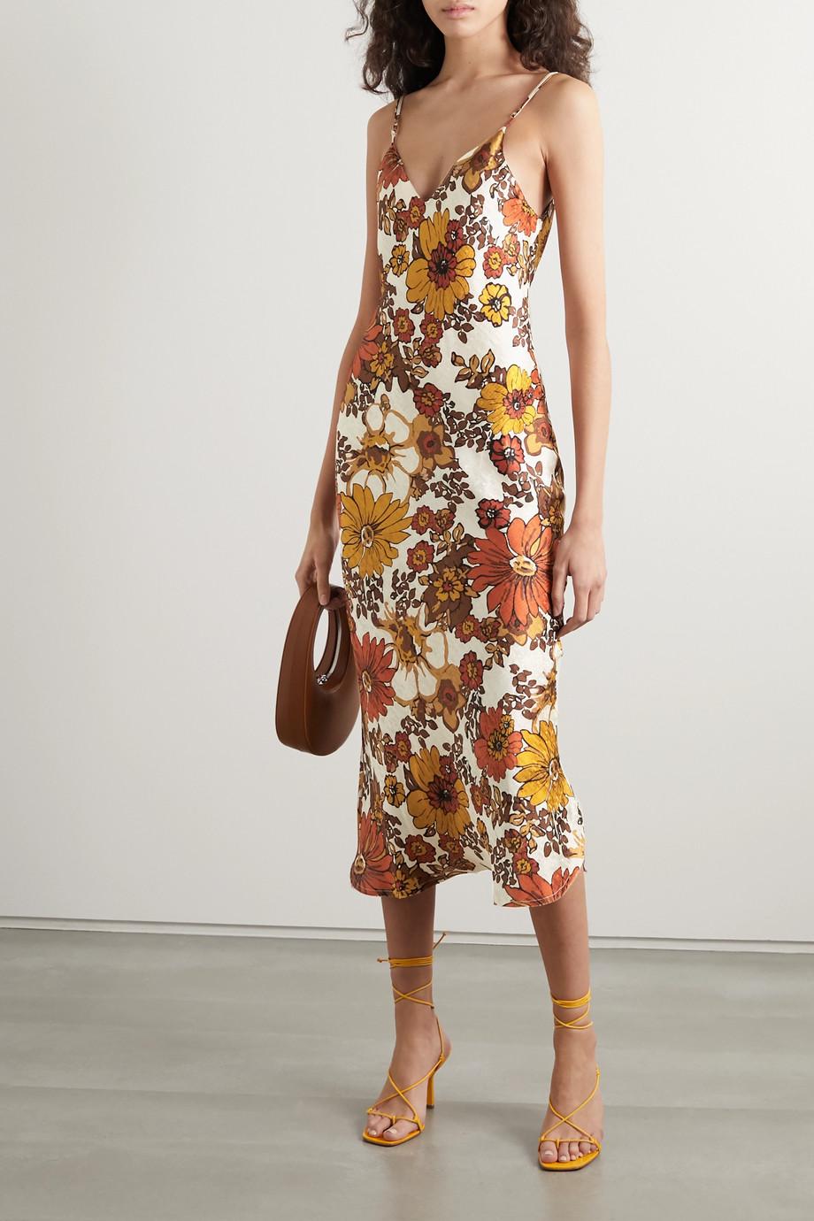 Dodo Bar Or Corinna floral-print silk-jacquard midi dress