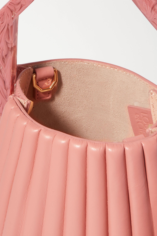 Louise Et Cie Alez small pleated leather bucket bag