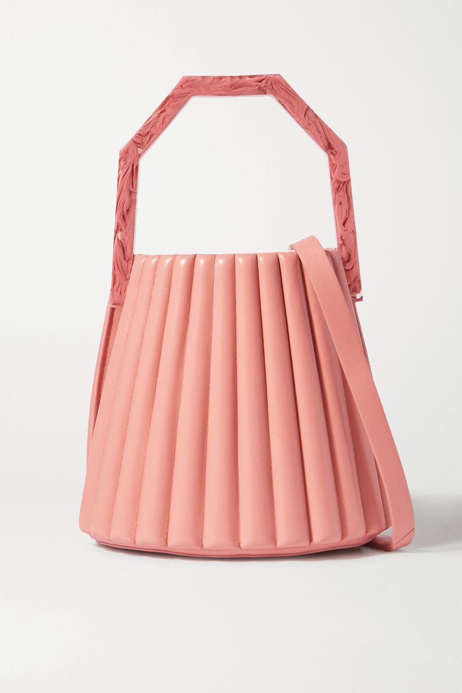 Louise Et Cie Alez small pleated leather bucket bag