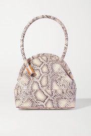 Louise Et Cie Isel snake-effect leather tote