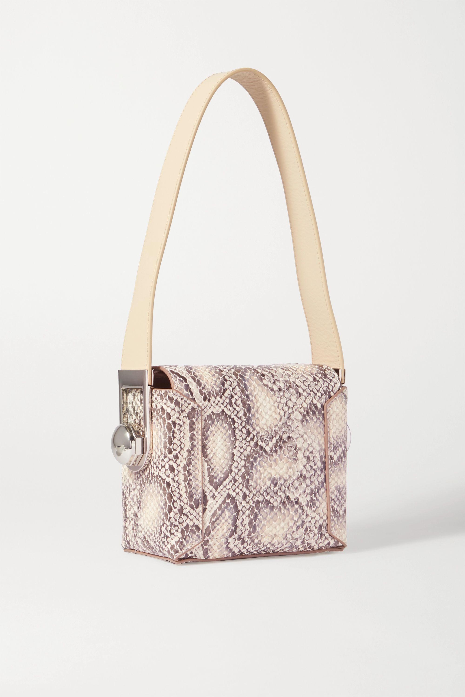 Louise Et Cie Muri snake-effect leather shoulder bag