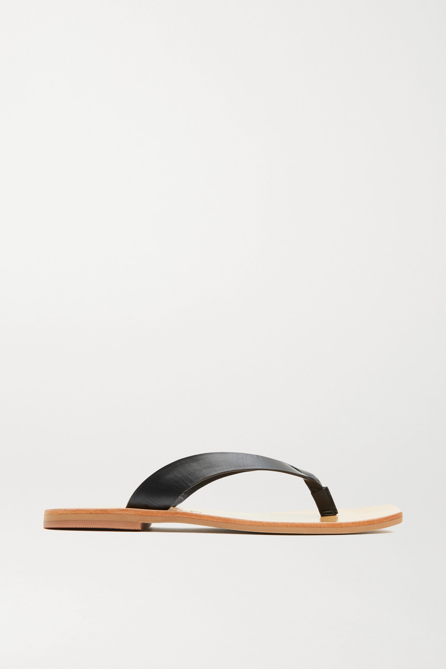 ST. AGNI Basik leather flip flops