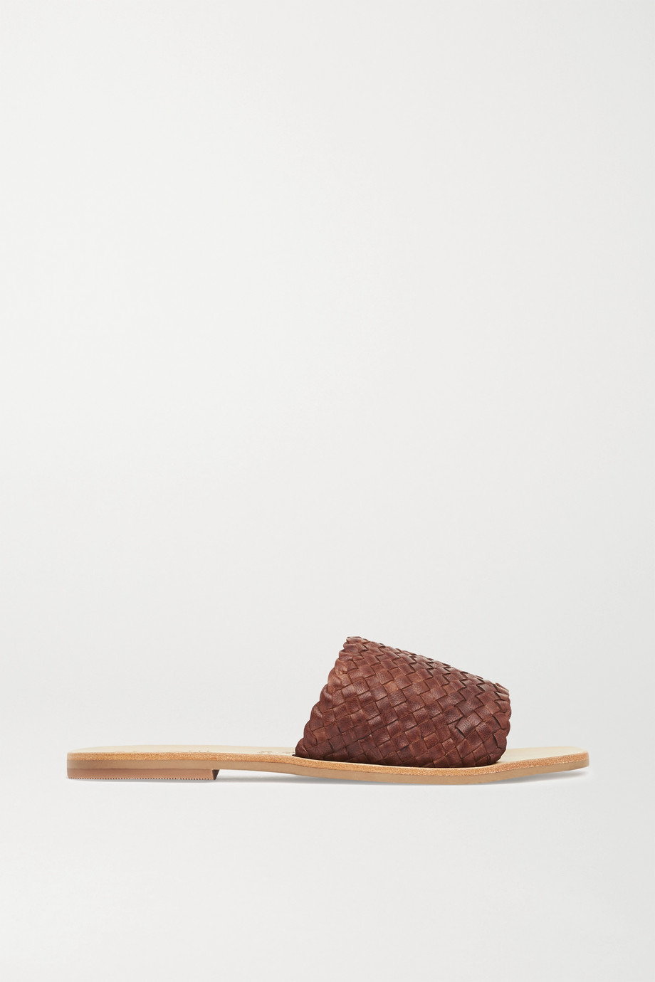 ST. AGNI + NET SUSTAIN Alice woven leather slides