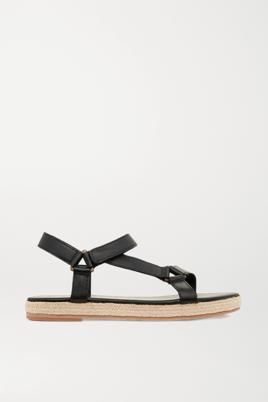 ST. AGNI + NET SUSTAIN Sportsu leather sandals