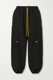 Pyer Moss Cropped embroidered shell track pants