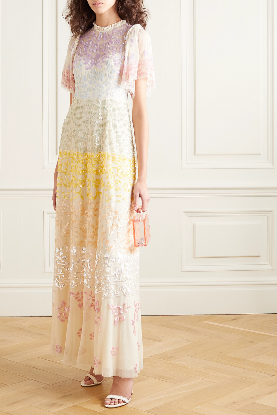 Needle & Thread + Jasmine Hemsley Chakra sequin-embellished tulle gown