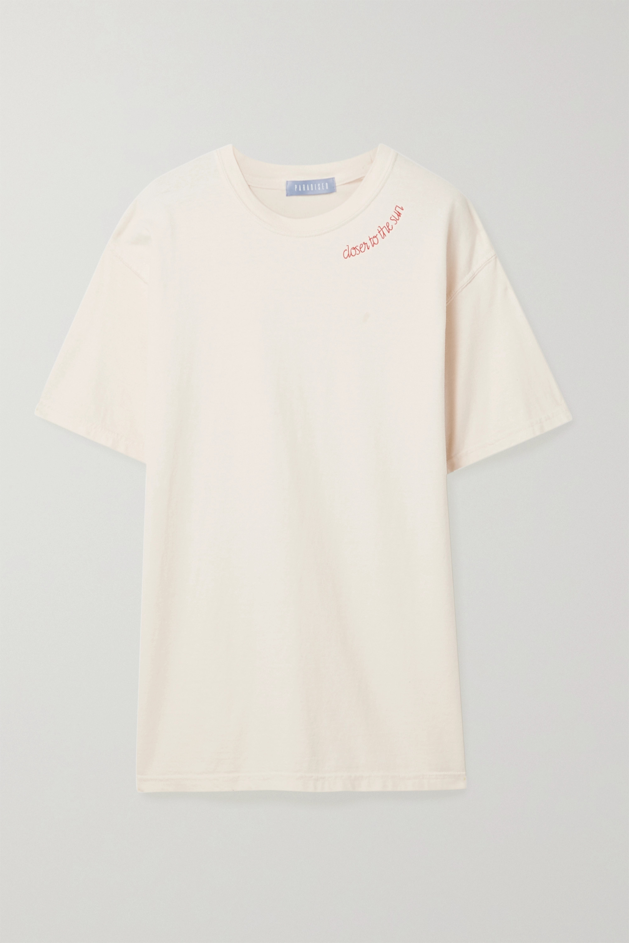 Paradised Embroidered cotton-jersey T-shirt