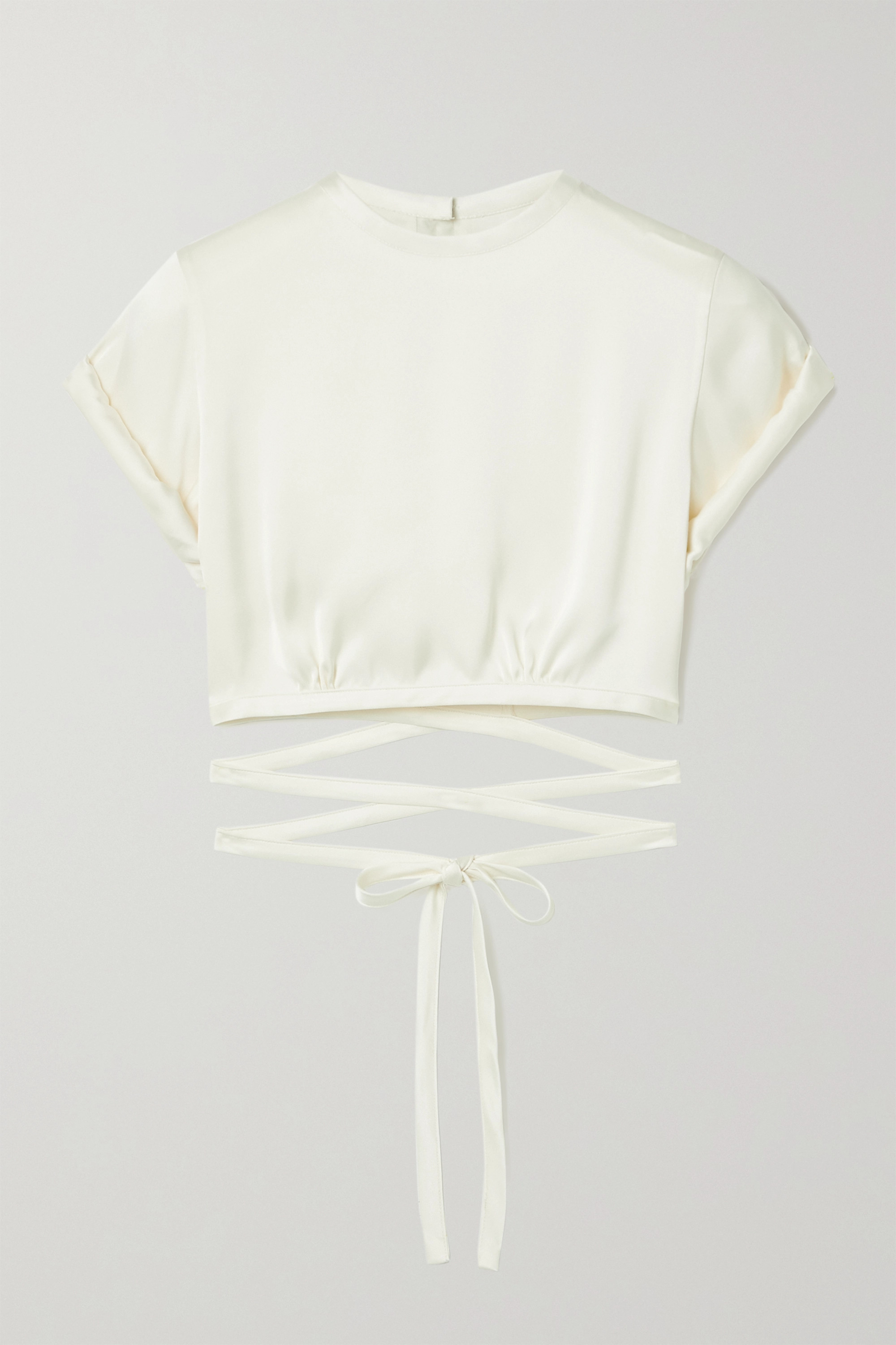 Orseund Iris Le Club cropped satin top