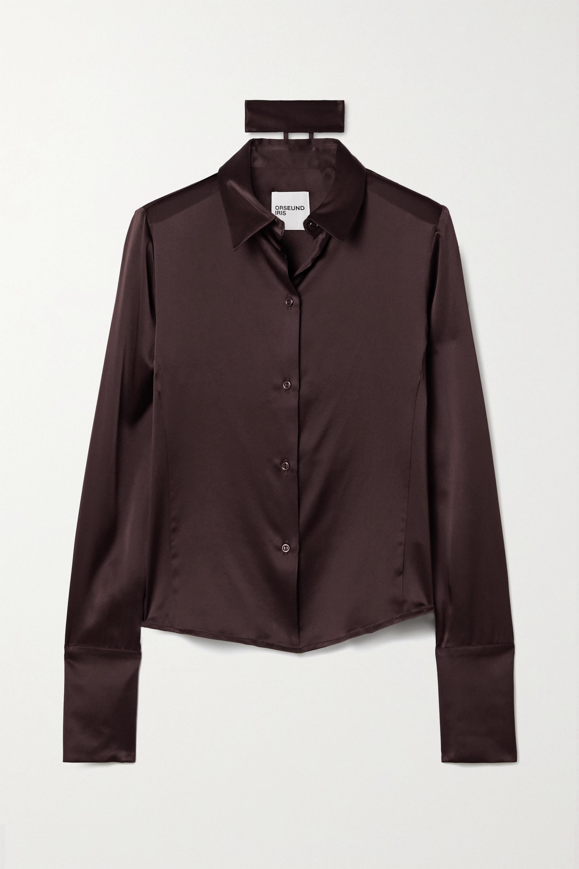 Orseund Iris Hemd aus Seidensatin